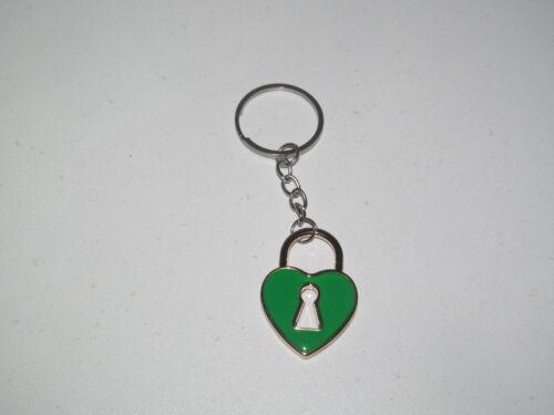 Porte Clés Moderne Gadget Keychain Coeur Cadenas Couleur au choix