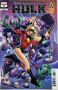 Immortal-Hulk-3-Carol-Danvers-50th-Ann-Variant-MARVEL-COMICS-2018-1ST-PRINT