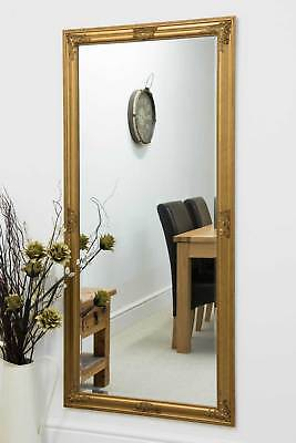 Large Gold Full Length Wall Mounted Mirror 5ft3 X 2ft5