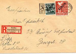 """Berlin """"Schwarz-Aufdruck"""" Nr. 19 auf Reco-Brief, Foto-Attest BPP A. Schlegel"""