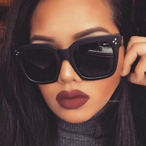 7c5db2bc43b Image is loading Women-Luxury-Oversize-Square-Cat-Eye-Sunglasses-Fashion-