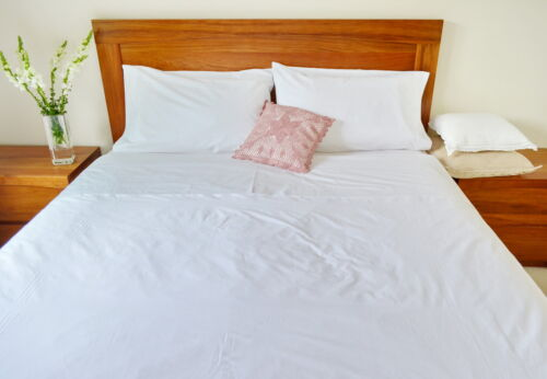 Egyptian Cotton 4 Pieces Sheet Set Queen//King//Double White Fitted Flat Percale