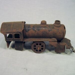Antique-Locomotive-Engine-99-Black-Rusty-Thin-Steel-Distressed-for-3-034-Wide-Track