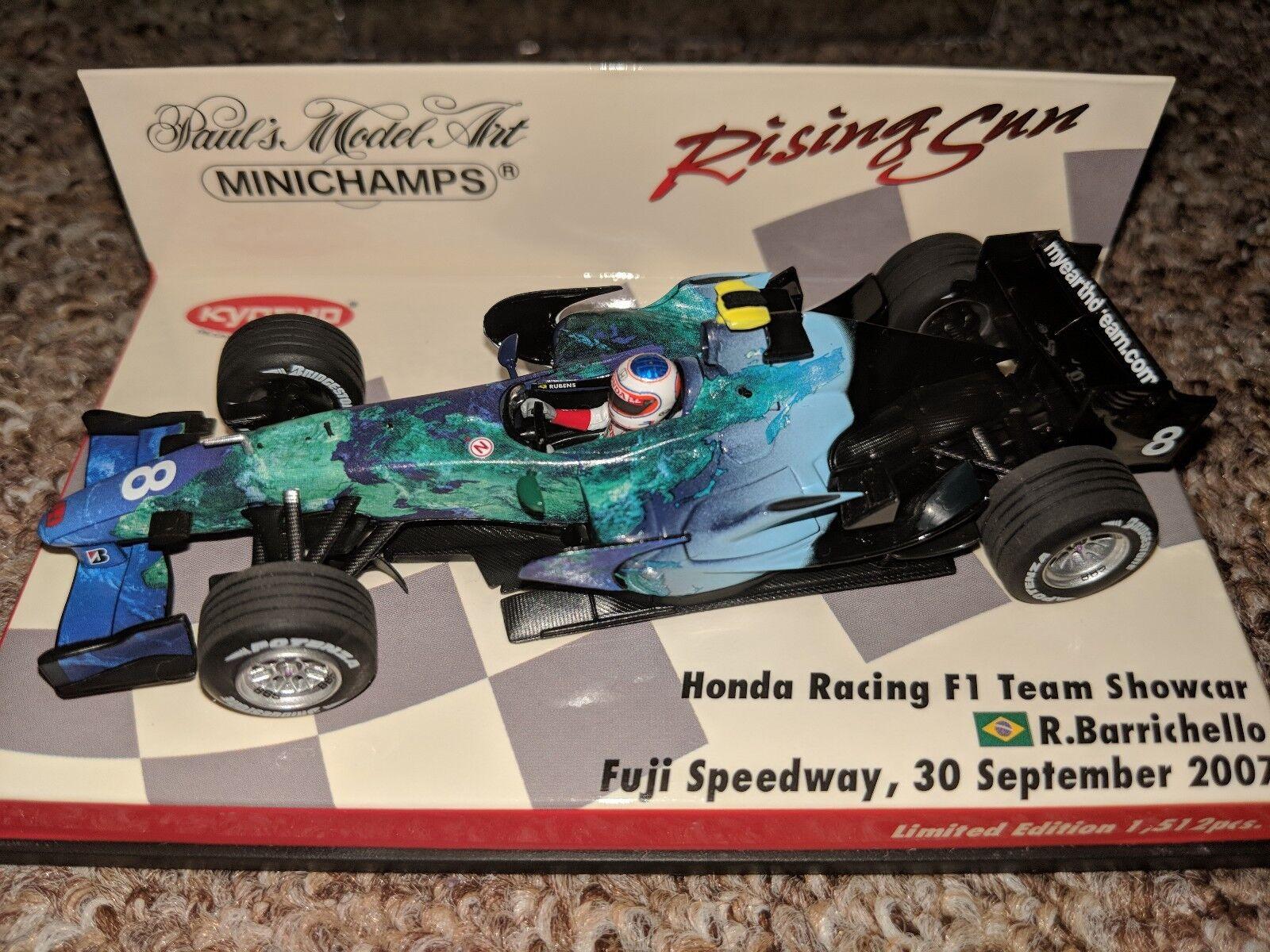 1 43 R BARRICHELLO - Honda RA107, 2007 (Rising Sun) - F1 Minichamps