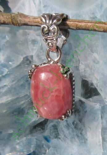 Anhänger mit Rhodochrosit Inkarose rosa Sterling Silber 925 Sternzeichen Stier