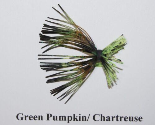 Opt Tarantula Skir 3 11 3 Arky Bass Jig-Green Pumpkin Body, Opt Weights,