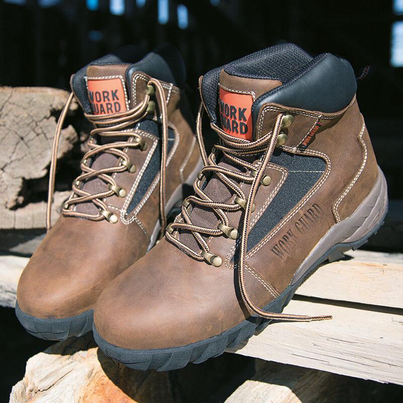 Risultato lavoro Guard Carrick sicurezza Scarpe Boot cuoio duro Indossare Scarpe sicurezza Abbigliamento Da lavoro PPE Nuovi 14810c