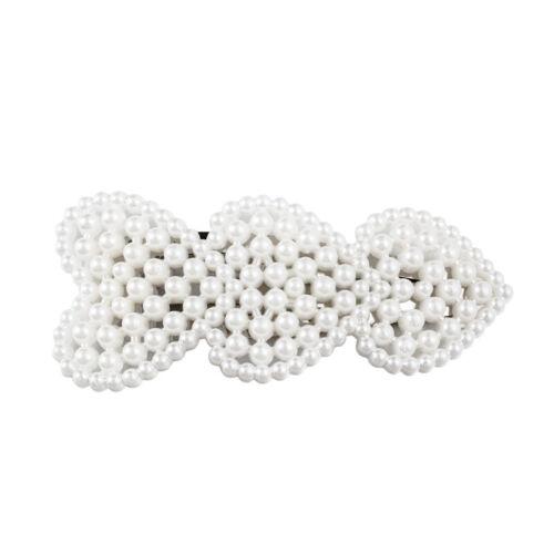 Fashion Women Handmade Pearl Hair Clip Snap Barrette Hairpin SALE Accessories