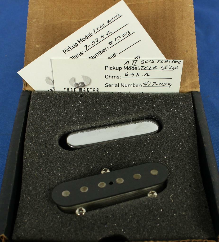 Tone Master Broadcaster Tele Electric Guitar Pickup Set Alnico 2 Hand-Wound  18