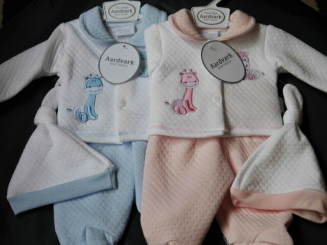 Premature baby girl clothes dress pants hat set tiny baby  3-8 lbs BNWT