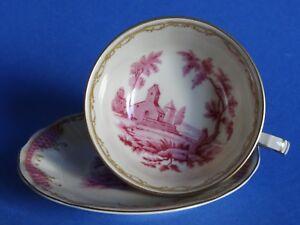 1 Tasse A The + Soucoupe En Porcelaine De Limoges Bernardaud Service Vincennes