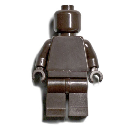 Monochrome Figure GENUINE LEGO monofig mono fig Brown Dark NEW LEGO