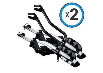 THULE ProRide 591 SILVER Twin Pack Roof Top Bike Carrier 591040 - Free  Shipping 7313020042244   eBay