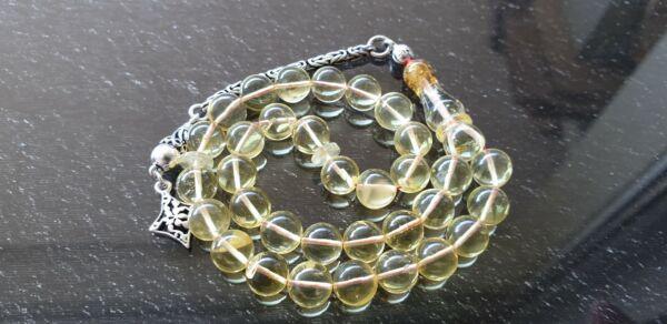 33 Perlas Natural Ámbar Rosario Cadena Prayer Beads De Koran Árabe Las Mejores SandíAs