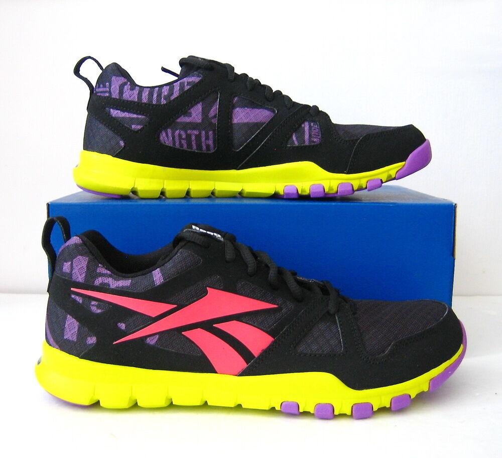 NWB Reebok Women's SubLite TR W Shoe Size 8.5 (US) Black/Party Purple/Yellow