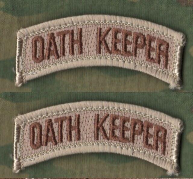 KANDAHAR JSOC ISAF SEAL RANGER USMC SNIPER VeIcrô MORALE 2-TAB SET: OATH KEEPER