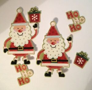 Christmas-Ho-Ho-Santas-Iron-On-Fabric-Appliques-Craft-Show-Projects