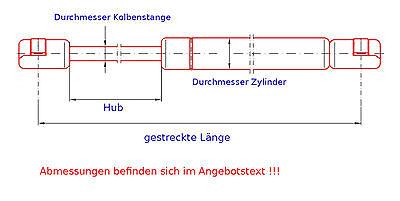 Karosserieteile Kofferraum- & Heckklappen 2 x SiS-Tec Gasfeder ...