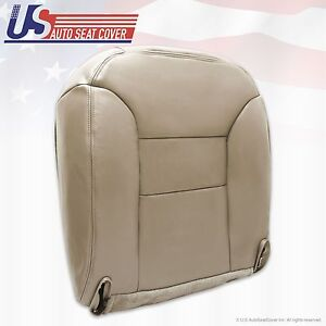 1995-1999 Chevy Silverado Driver Lean Back Leather Seat Cover Med Neutral Tan
