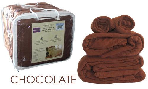 POLAR FLEECE SHEET SET SUPER SOFT,WARM N COZY WINTER BEDDING - VARIETY OF FarbeS