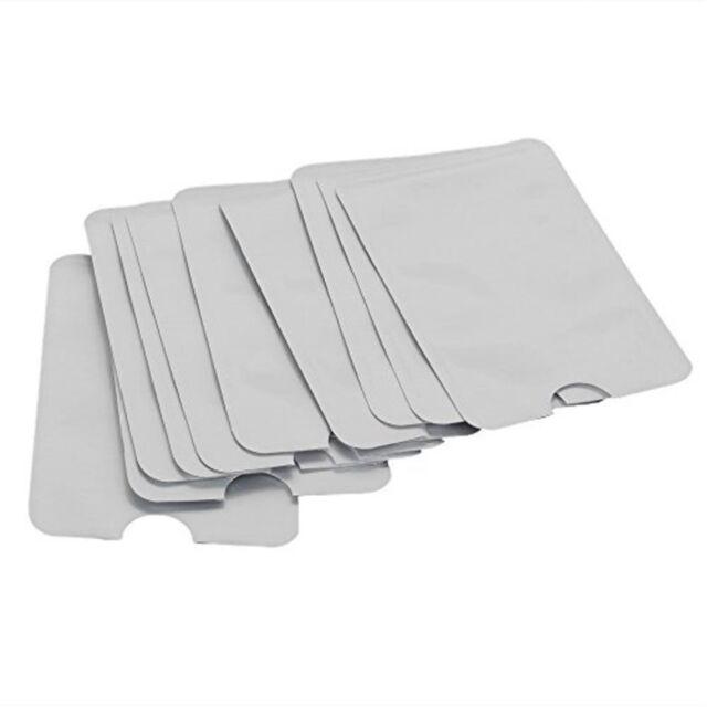 10 x RFID SECURE CREDIT CARD BLOCKING SLEEVES PROTECTOR SCAN BLOCKER