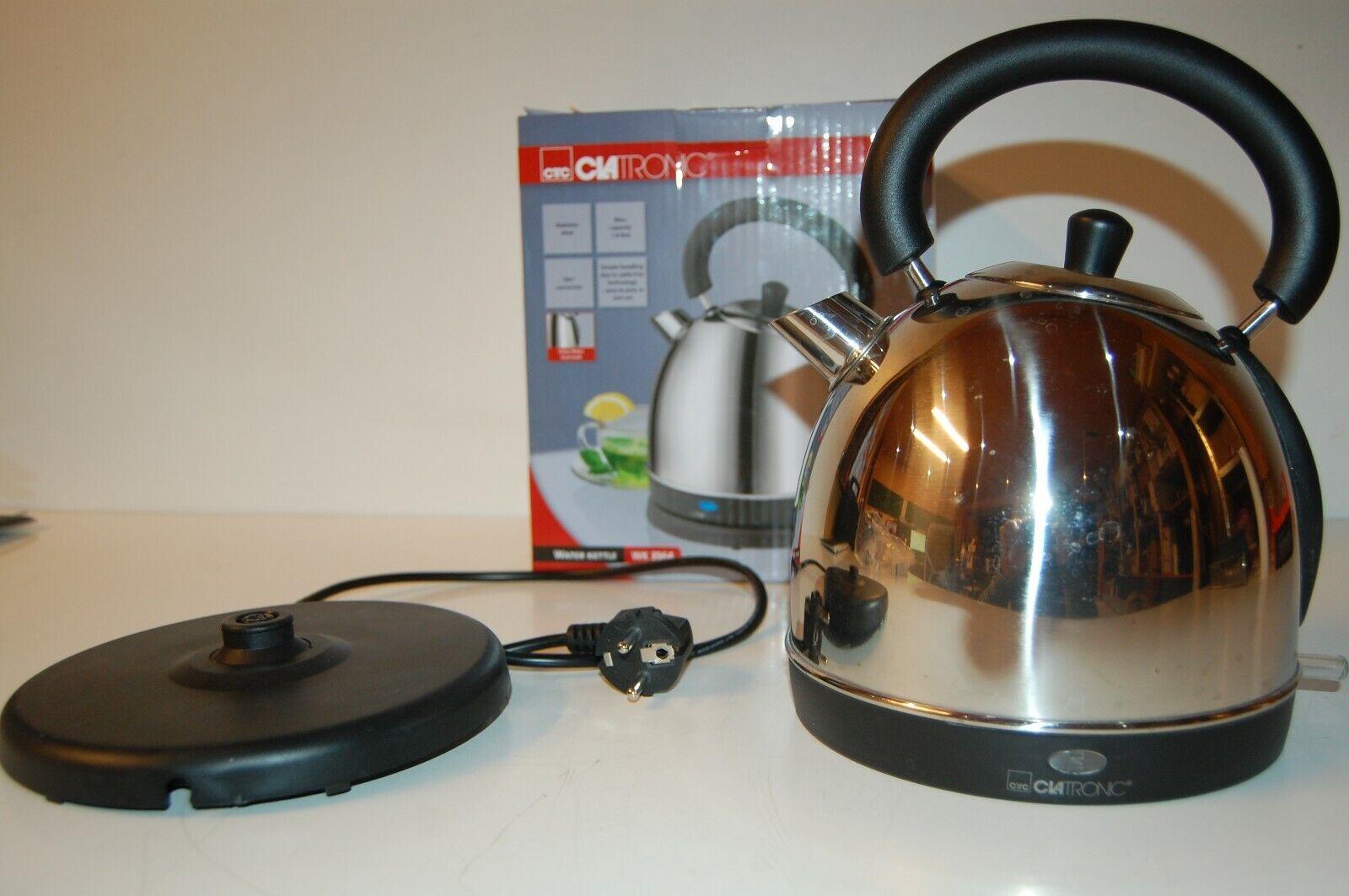 CLATRONIC Wasserkessel WK 3564 inox 1,8L 1800W Wasserkocher Teekocher kabellos