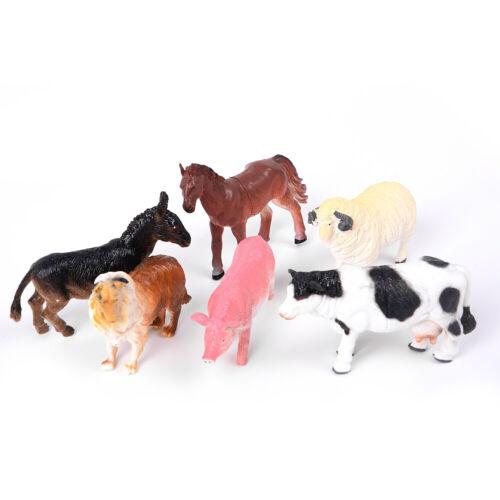 I modelli di Casa Animali Da Fattoria Figure In Plastica Grande Decorazione pecora cavallo per bambini regalo