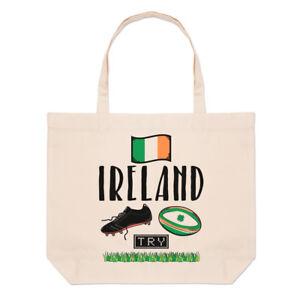 e4ec37a3e2092c Rugby Ireland Grand Plage Sac Fourre-Tout - Drôle League Drapeau ...
