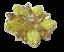 thumbnail 3 - Vintage Brooch  AB Rhinestone Yellow Iridescent Molded Glass Flower Gold Tone