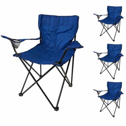 4er Set Klappstuhl Faltstuhl für Camping Strand Garten Dunkelblau//Schwarz