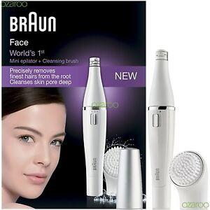 Braun-Femmes-Visage-810-Mini-Batterie-Epilateur-Et-Brosse-de-Nettoyage-Facial