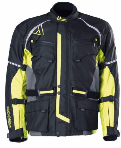20€ MODEKA Motorradjacke TOUREX Jacke Textil Herren wasserdicht gelb UVP 99,90€