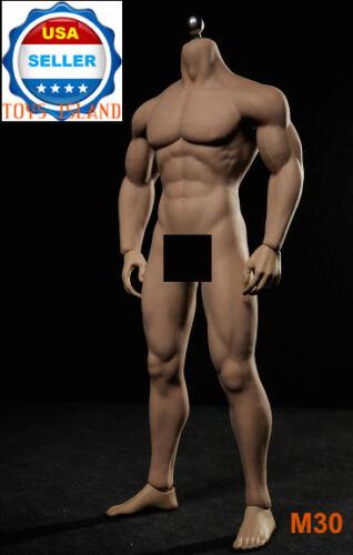 1//6 PHICEN M30 Flexible Seamless Male Muscular Figure Body Steel Skeleton ❶USA❶