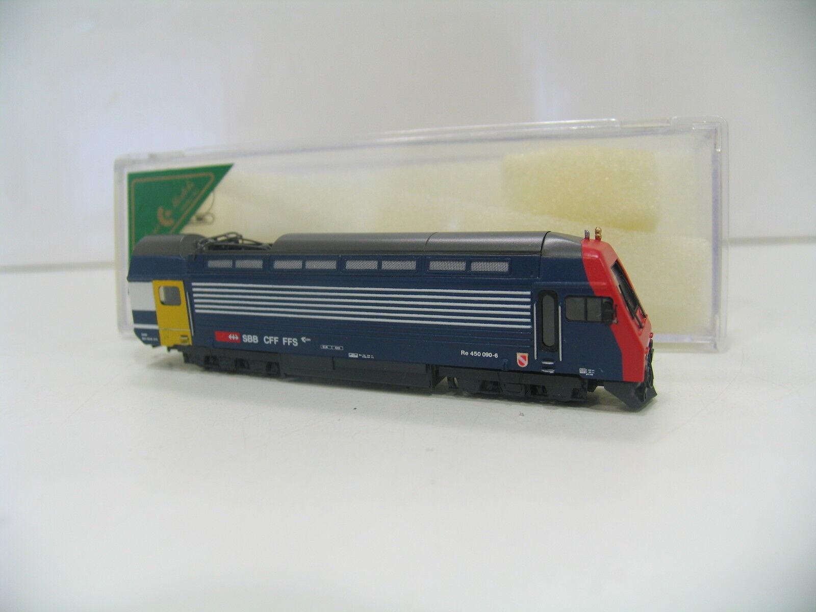 WABU N 501.000 E-Locomotive Re 450 090-6 bluee  Red Front  of the SBB Zürich S-Bahn SC82