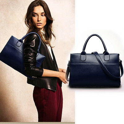 Fashion Women Leather Handbag Shoulder Bag Large Tote Satchel Excellent