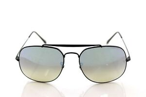 ad814b6ad9 NEW Authentic RAY-BAN THE GENERAL Black Silver Flash Sunglasses RB 3561 002  9U