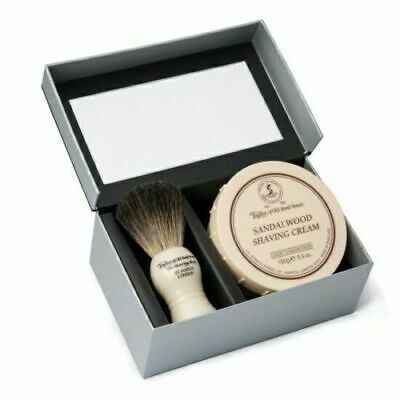 Taylor Of Old Bond Street Pure Badger Brush & Sandalwood Bowl 150g Gift Box Set Factories And Mines Health & Beauty Shaving & Hair Removal