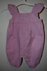 Baby GAP Infant Girls One Piece Pink Dots Size 0-3 M NWT