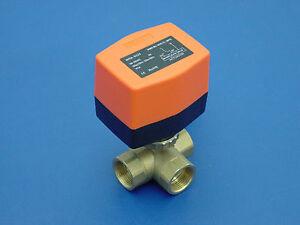3-Wege-Umschaltventil-Zonenventil-3-4-034-Motor-Kugelventil-Heizung-Solar-Klima