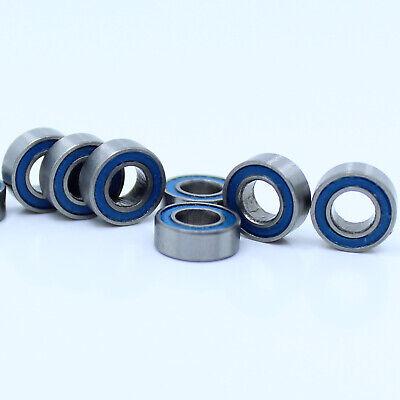 BLACK Rubber Sealed Ball Bearing Bearings MR84RS 4x8x3 mm MR84-2RS 50 PCS
