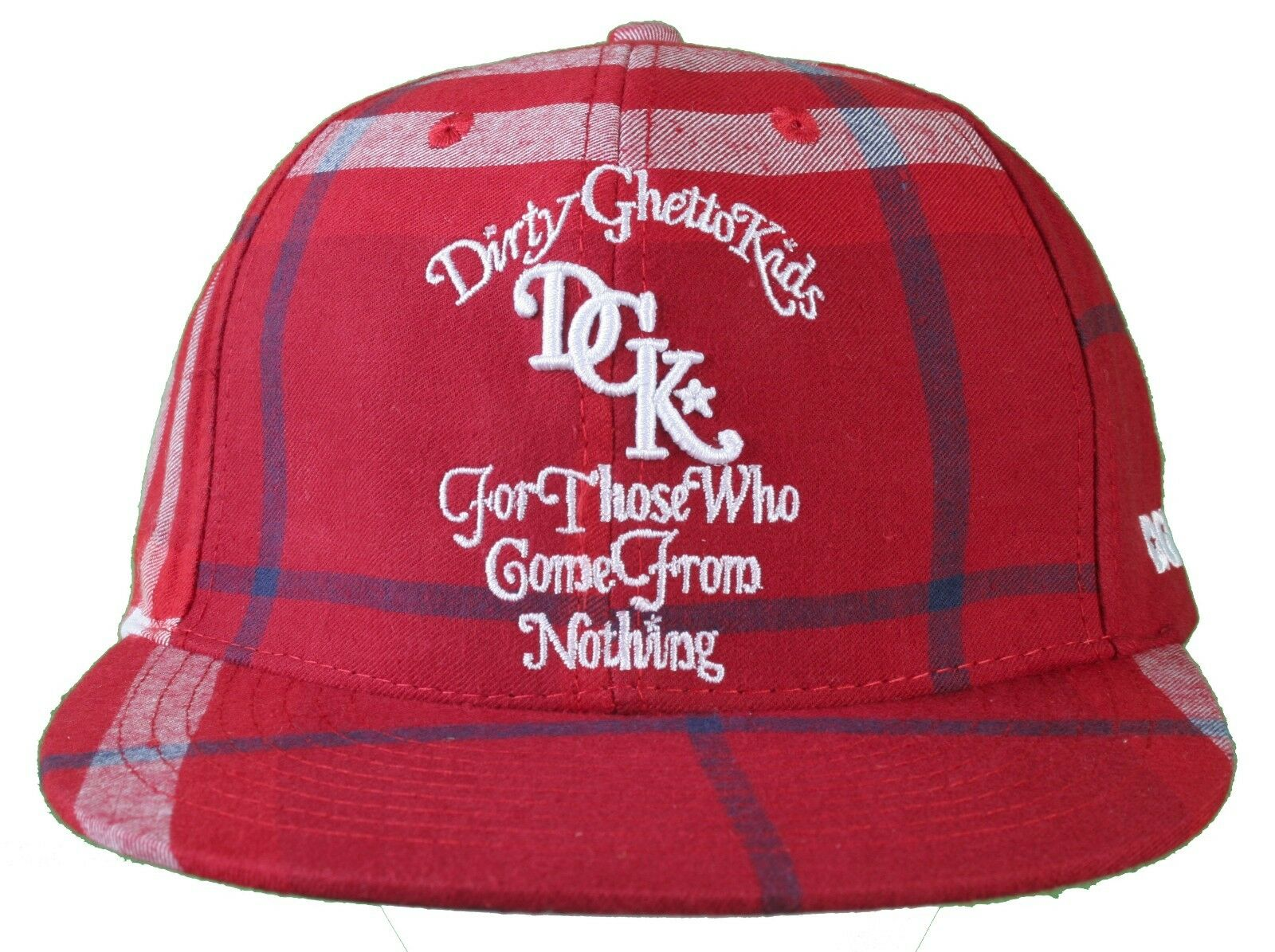 DGK Burgundy Red Plaid From For Those Who Come From Plaid Nothing Snapback Baseball Hat Cap ac86b0
