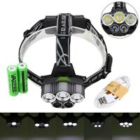 Hunting 50000 Lm 5x Xm-l T6 Led Headlight Torch Outdoor Camping&hiking Light