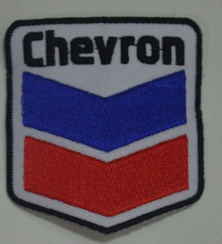 CHEVRON MOTOR RACING OVERALLS EMBROIDERED PATCH SEW ON GASOLINE PETROL CV1GAS