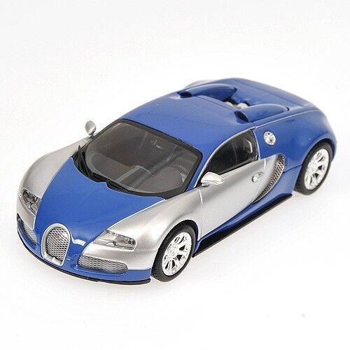 Scale model 1 1 1 43 Bugatti Veyron EDITION CENTENAIRE - CHROME blueE 2009 4eb3c4