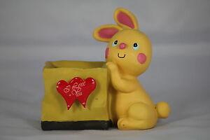 RABBIT VALENTINE Desk Tidy Pen Holder, a Fun Valentine's Gift, BUNNY Love Token!