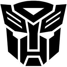 2x BLACK Transformers Autobot Vinyl Decal Sticker Car Hood Window Laptop iPad