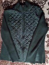 Croft & Barrow Quilted Mock Turtleneck Sweater/Jacket Green Womens Sz XL $54 NWT