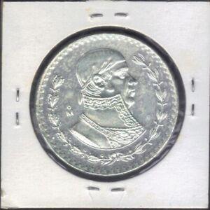1966 Mexico 1 Peso Jose Morelos y Pavon Silver Coin  KM# 459