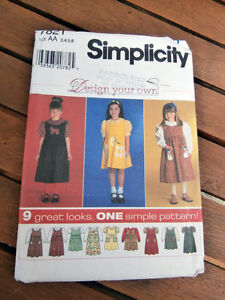 Oop-Simplicity-7821-Design-your-own-girls-blouse-jumper-size-3-6-NEW