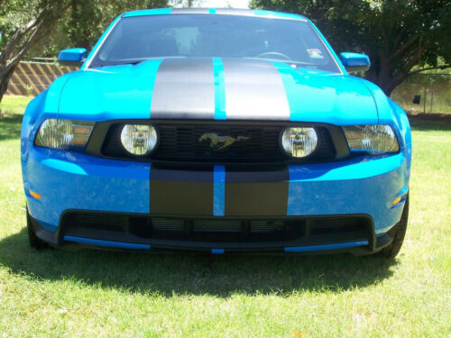 "10 2011 2012 2013 14 Mustang 10/"" Plain Rally stripes Stripe Graphics Cobra GT500"